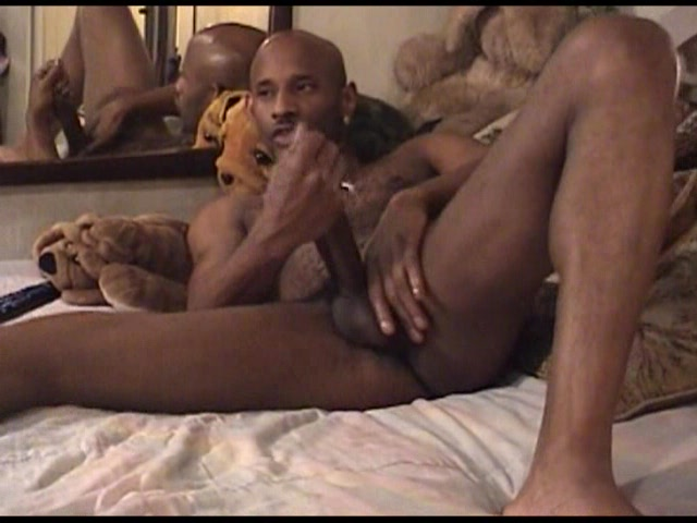 Black gay men frolic in the evening